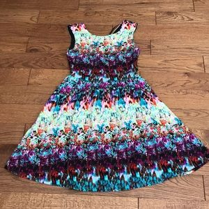 Cynthia rowley spring abstract swing dress size 4